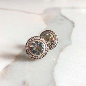 💯 David Yurman Diamond & Prasiolite Stud Earrings